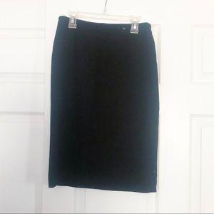 Vintage Armani Black Pencil Skirt